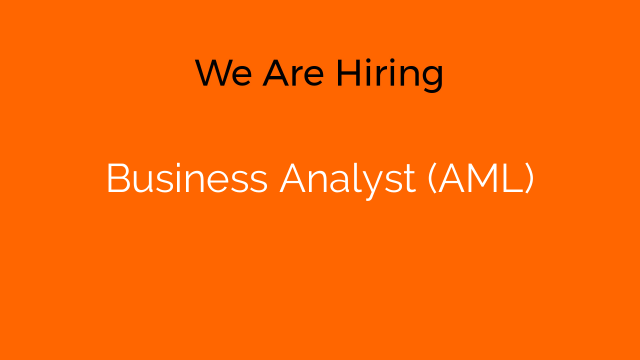 Business Analyst (AML)