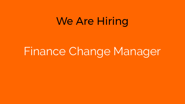 Finance Change Manager