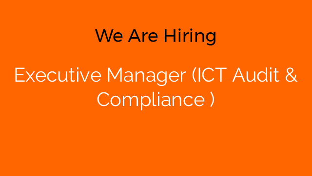 Executive Manager (ICT Audit & Compliance )