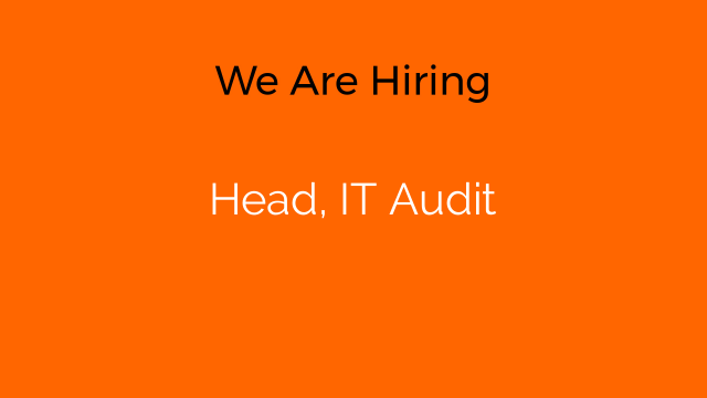 Head, IT Audit
