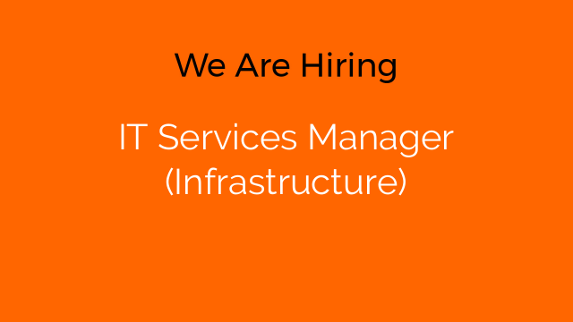 IT Services Manager (Infrastructure)