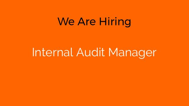 Internal Audit Manager
