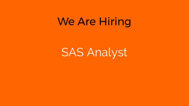 SAS Analyst