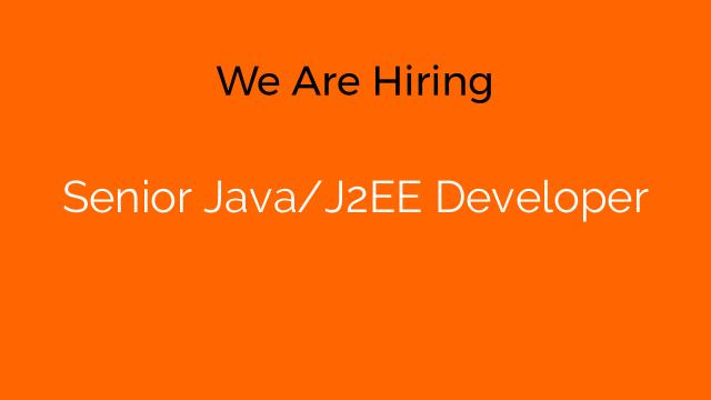Senior Java/J2EE Developer