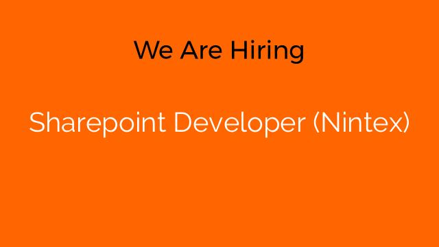Sharepoint Developer (Nintex)