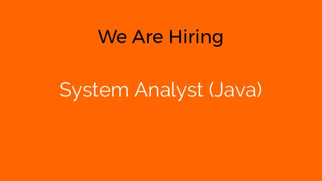 System Analyst (Java)