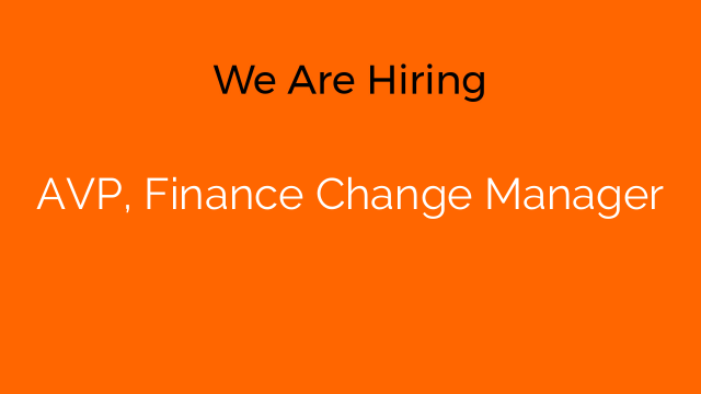 AVP, Finance Change Manager