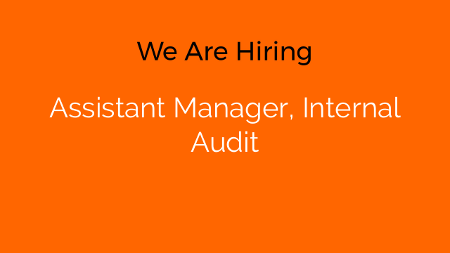 Assistant Manager, Internal Audit