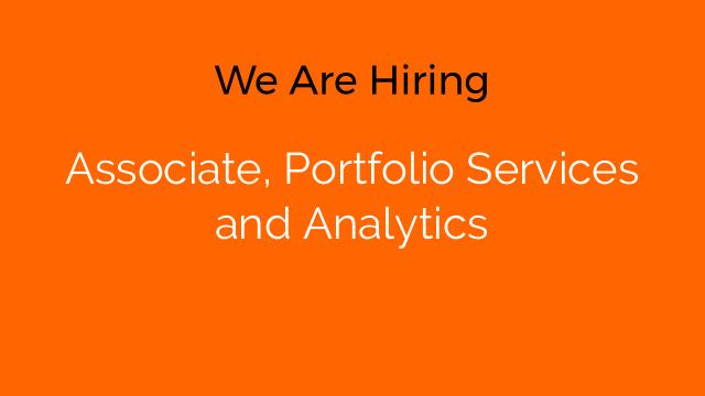 Associate, Portfolio Services and Analytics
