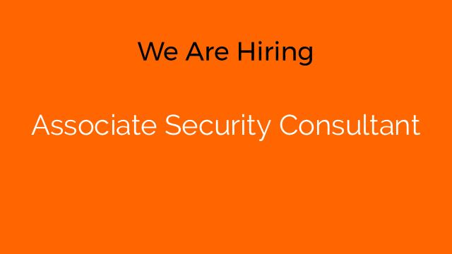 Associate Security Consultant