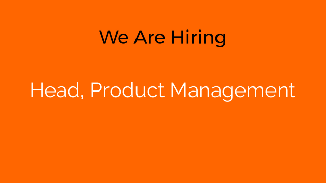 Head, Product Management