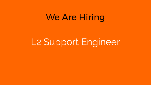 L2 Support Engineer