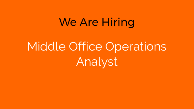 Middle Office Operations Analyst