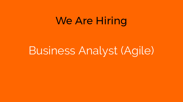 Business Analyst (Agile)