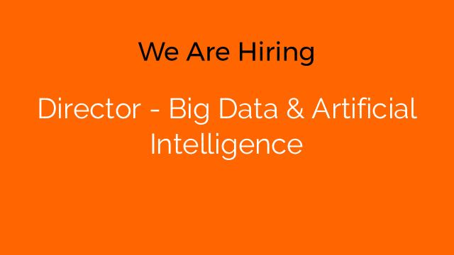Director - Big Data & Artificial Intelligence