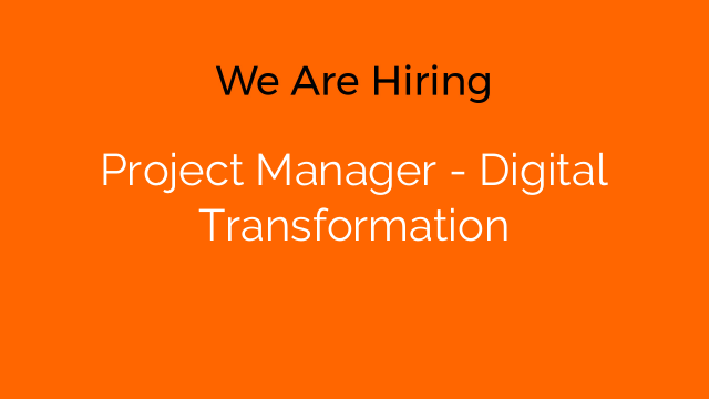 Project Manager - Digital Transformation
