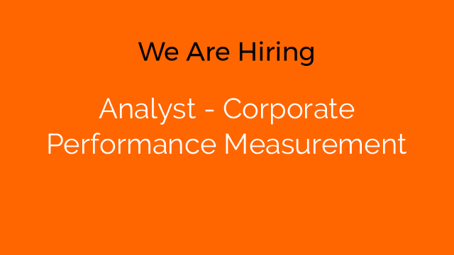 Analyst - Corporate Performance Measurement