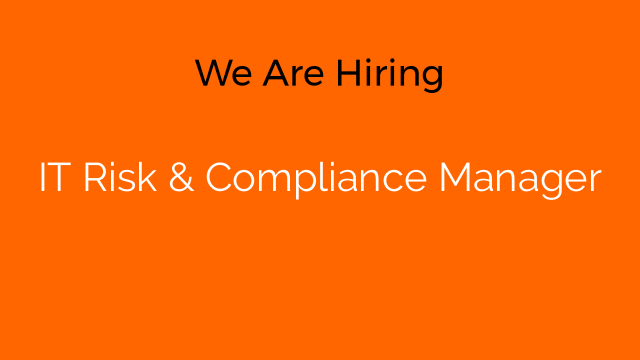 IT Risk & Compliance Manager