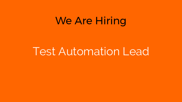 Test Automation Lead