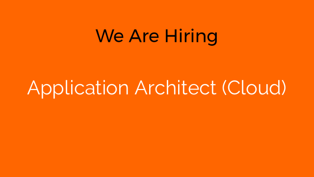 Application Architect (Cloud)