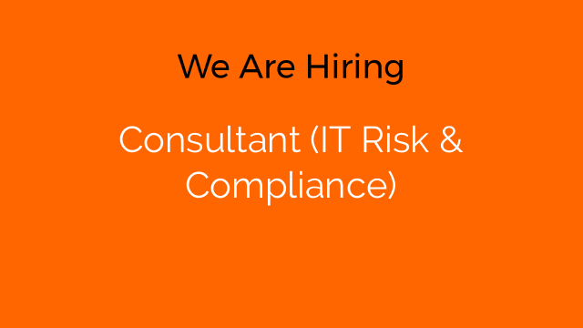 Consultant (IT Risk & Compliance)