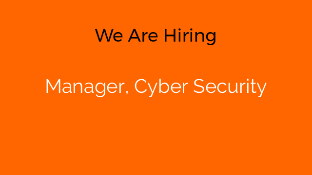 Manager, Cyber Security