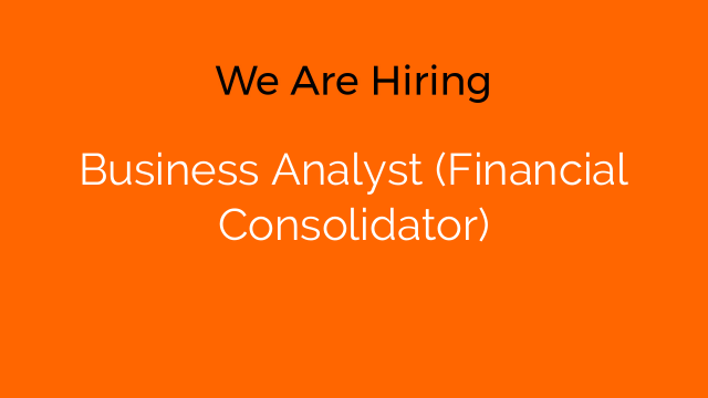 Business Analyst (Financial Consolidator)
