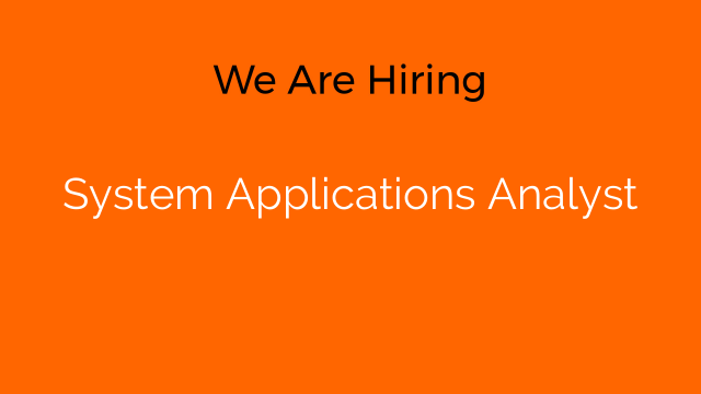 System Applications Analyst