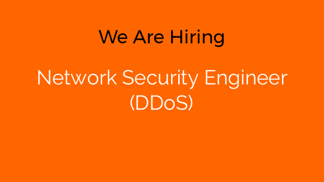 Network Security Engineer (DDoS)