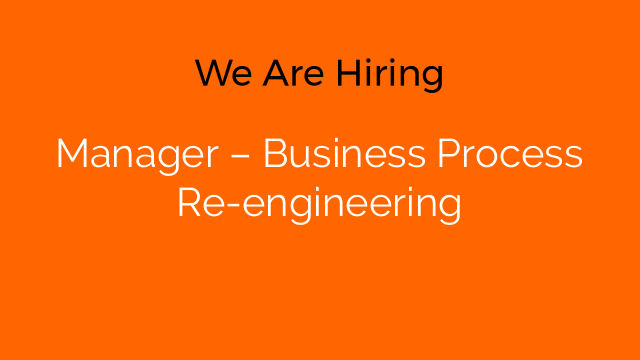 Manager – Business Process Re-engineering