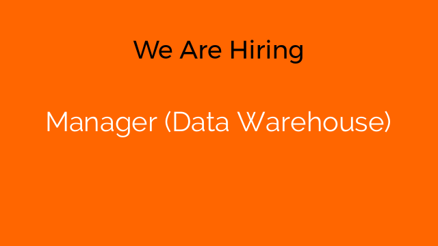 Manager (Data Warehouse)