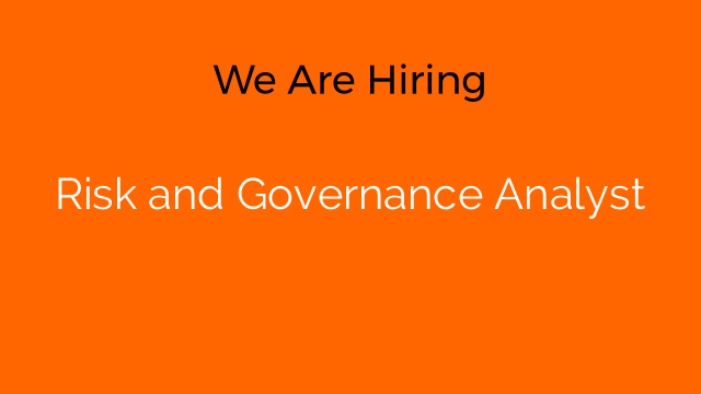 Risk and Governance Analyst