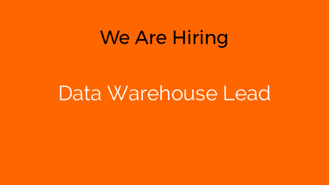 Data Warehouse Lead