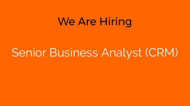 Senior Business Analyst (CRM)