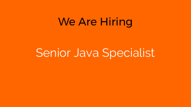 Senior Java Specialist