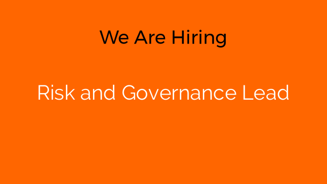 Risk and Governance Lead