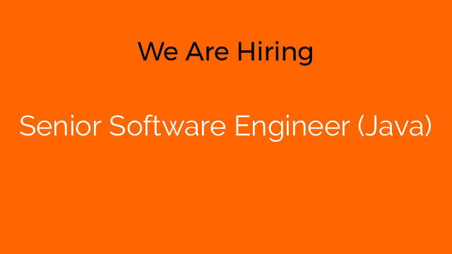 Senior Software Engineer (Java)