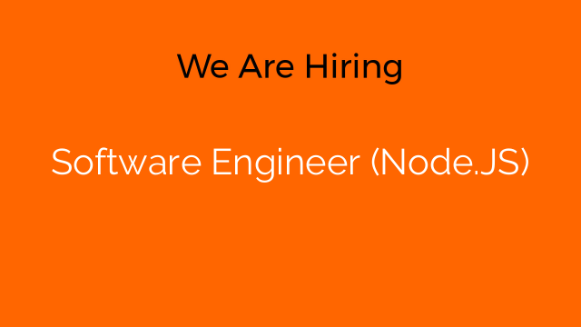 Software Engineer (Node.JS)