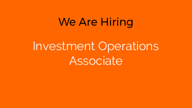 Investment Operations Associate
