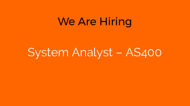 System Analyst – AS400