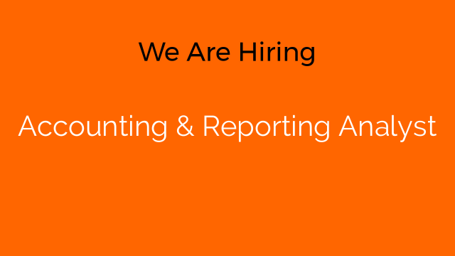 Accounting & Reporting Analyst