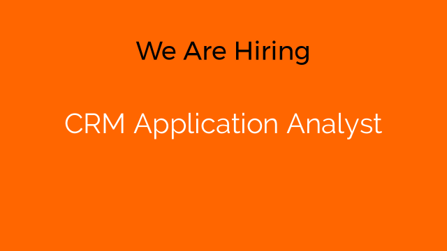 CRM Application Analyst