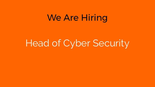 Head of Cyber Security