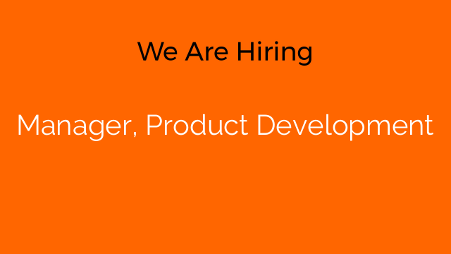 Manager, Product Development