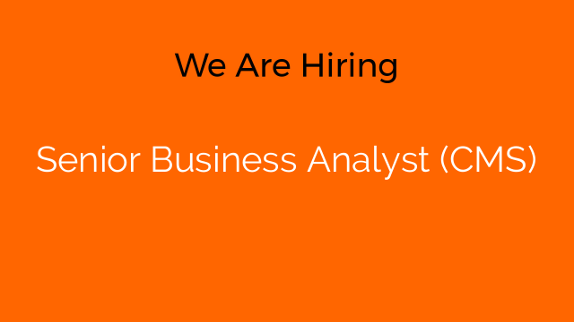 Senior Business Analyst (CMS)