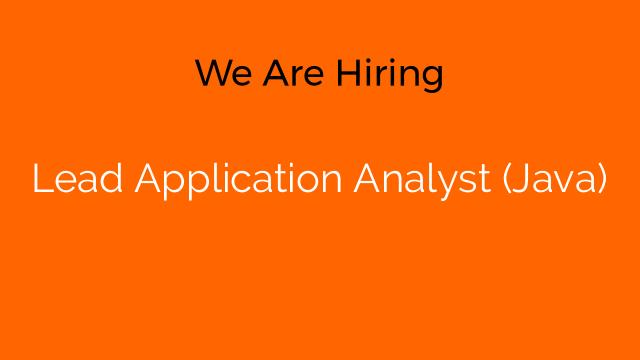 Lead Application Analyst (Java)