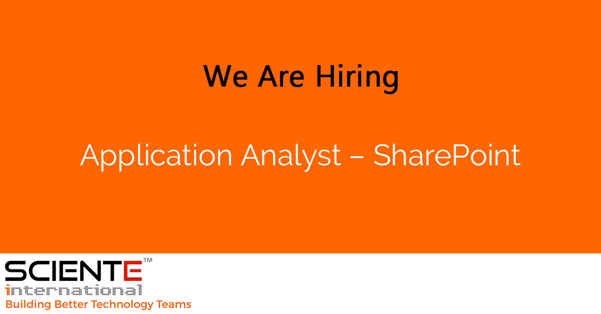 Application Analyst – SharePoint