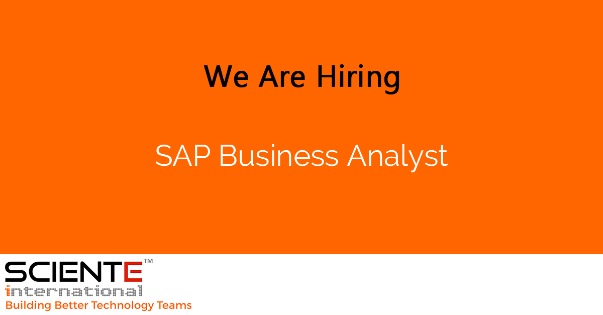 SAP Business Analyst