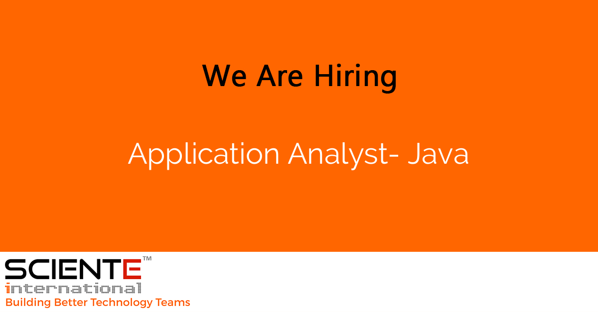 Application Analyst- Java