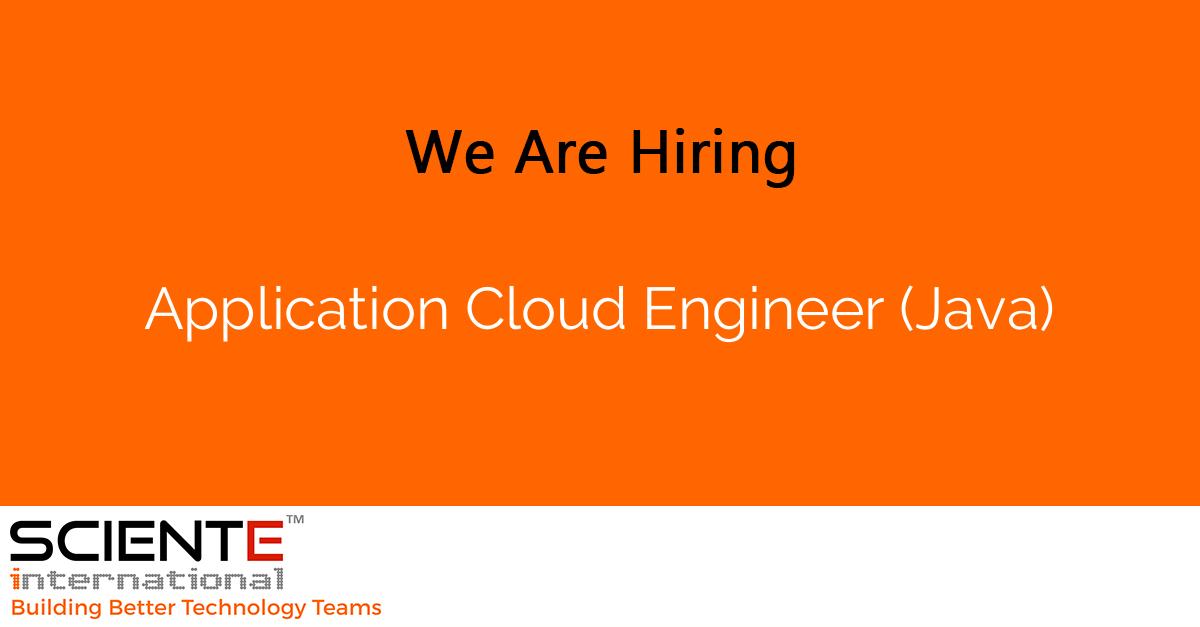 Application Cloud Engineer (Java)